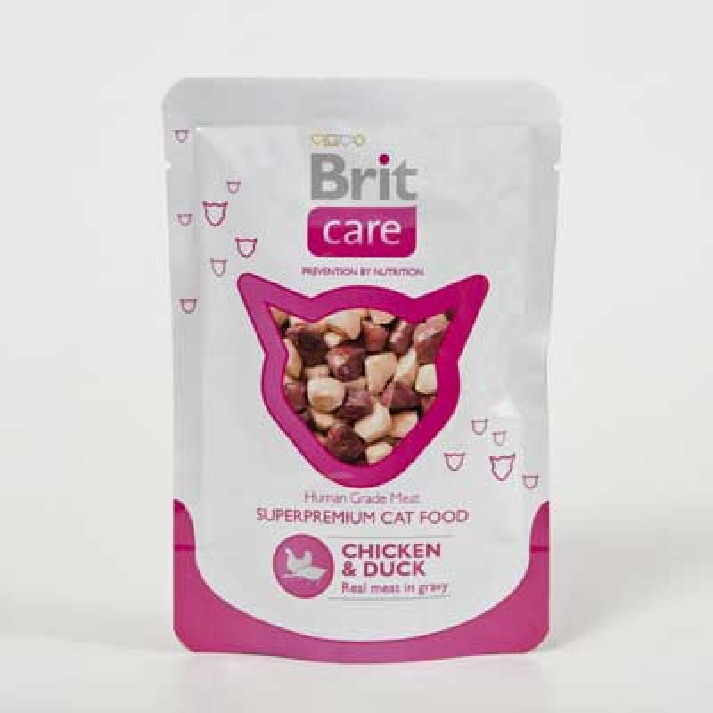 Brit Care Cat Φακελάκι Κοτόπουλου & Πάπια 80gr