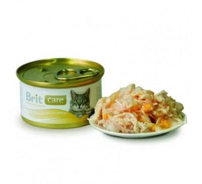 Brit Care Cat Κονσέρβα Στήθος Κοτόπουλου & Τυρί 80gr