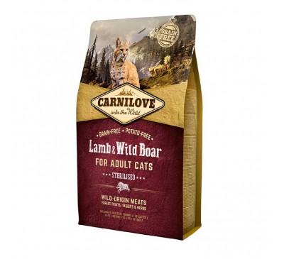 Carnilove Cat Sterilised Lamb & Wild Boar Στειρωμένα Αρνί & Αγριόχοιρο 400gr