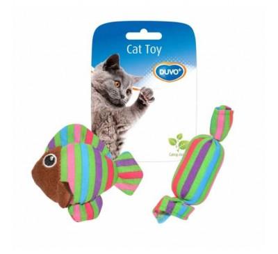 Duvo Παιχνίδι Γάτας Ψάρι & Καραμέλα 2 τεμάχια