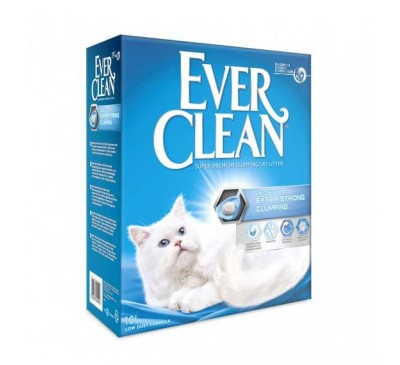 Everclean Extra Strong Unscented Άμμος Γάτας 10L