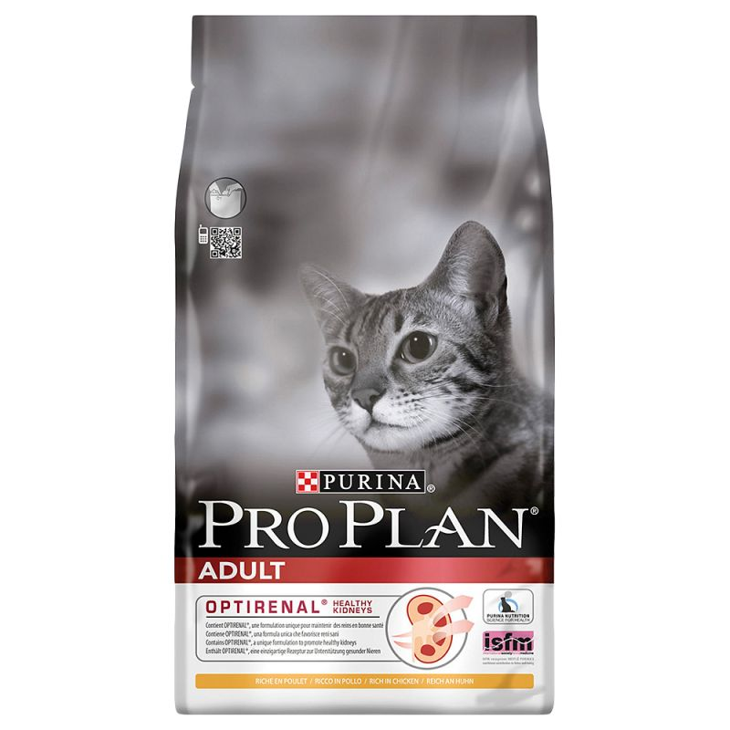 Pro Plan Cat Adult Optirenal Κοτόπουλο & Ρύζι 1,5kg