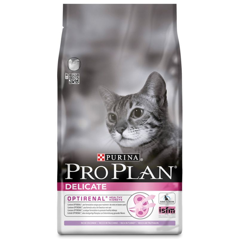 Pro Plan Cat Delicate Optirenal Γαλοπούλα & Ρύζι 1,5kg