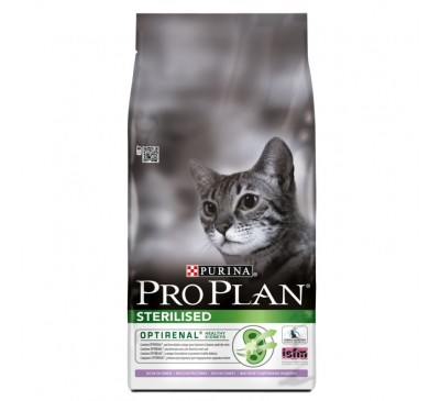 Pro Plan Cat Sterilised Optirenal Γαλοπούλα 10kg