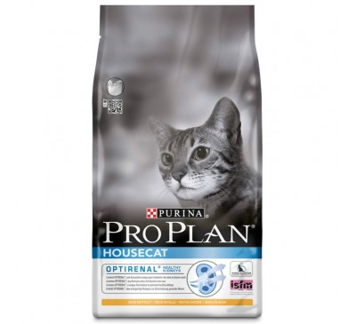 Pro Plan Cat HouseCat Optirenal Κοτόπουλο & Ρύζι 10kg