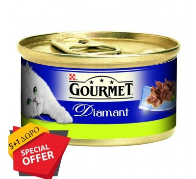 Gourmet Diamant Φιλετάκια Κουνέλι 85g (5+1 ΔΩΡΟ)