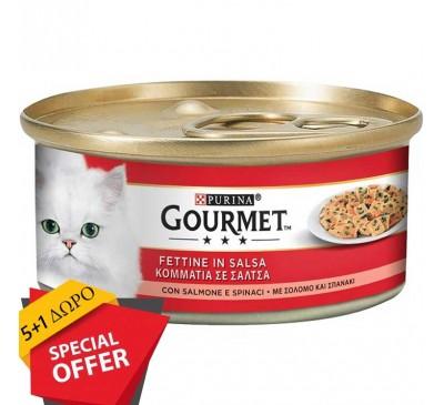 Gourmet Φιλετάκια Σολομός Σπανάκι 195g  (5+1 ΔΩΡΟ)