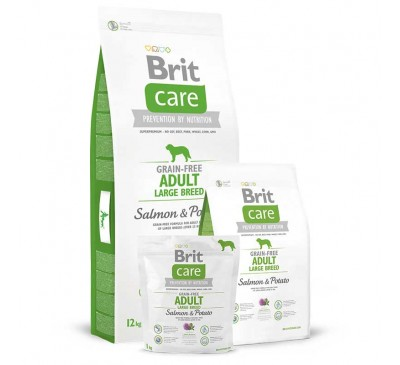 Brit Care Dog Adult Grain-free Large Breed Salmon & Potato 3kg