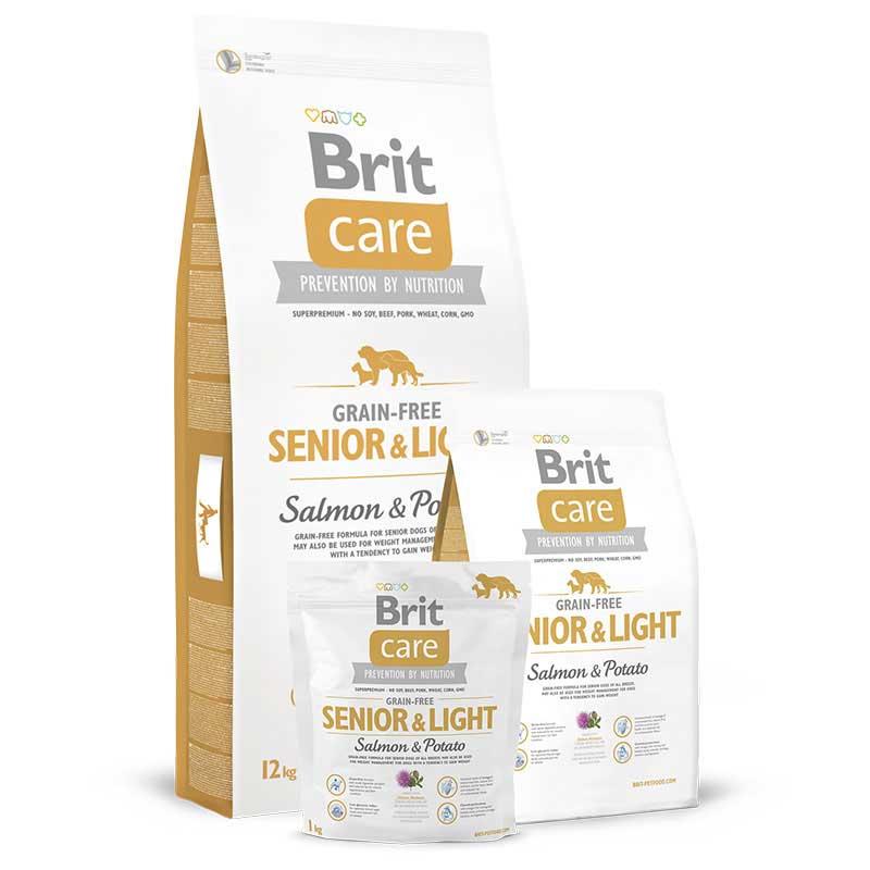 Brit Care Dog Grain-free Senior Light Salmon & Potato 3kg
