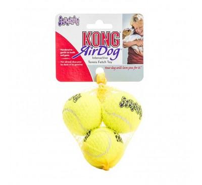 Kong Air Squeaker Tennis XSmall Παιχνίδι Σκύλου 3pcs