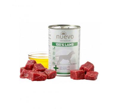 Nuevo Dog Κονσέρβα Sensitive 100%one Protein Αρνί 400gr