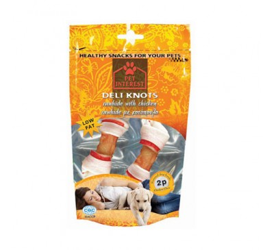 Pet Interest Knots Chicken Large Red Κόμποι με Κοτόπουλο 100gr