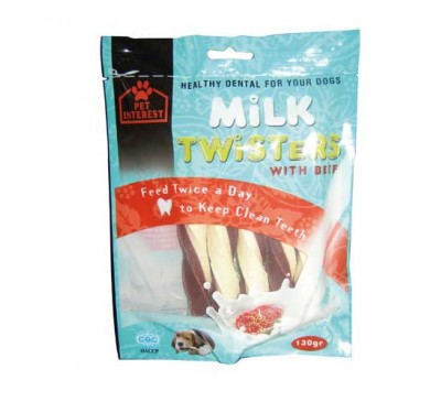 Pet Interest Milk Twisters Beef με Γεύση Μοσχάρι 130gr