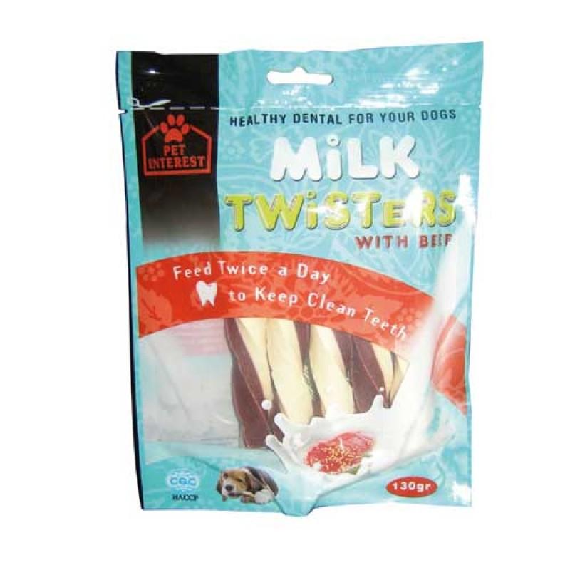 Pet Interest Milk Twisters Beef με Γεύση Μοσχάρι 130gr