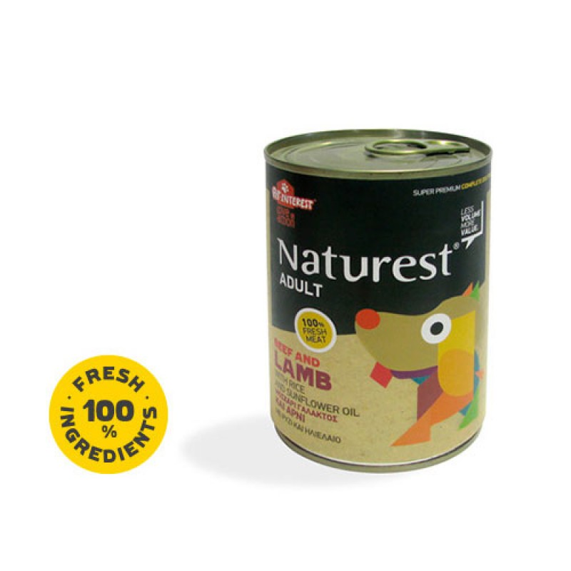 Pet Interest Naturest Adult Beef & Lanb With Carrots & Sunflower Oil 400gr