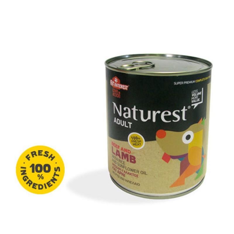 Pet Interest Naturest Adult Beef & Lanb With Carrots & Sunflower Oil 800gr