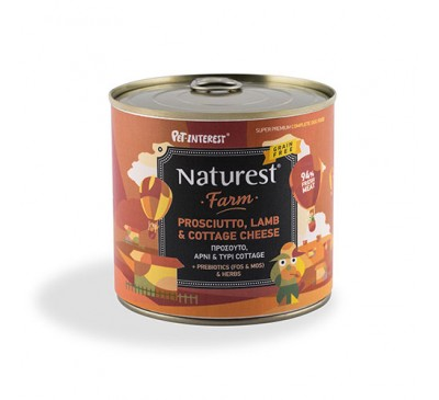 Pet Interest Naturest Adult Lamb And Prosciutto With Cottage Cheese 600gr