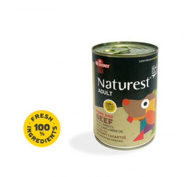 Pet Interest Naturest Adult Beef & Pork With Carrots & Sunflower Oil 400gr