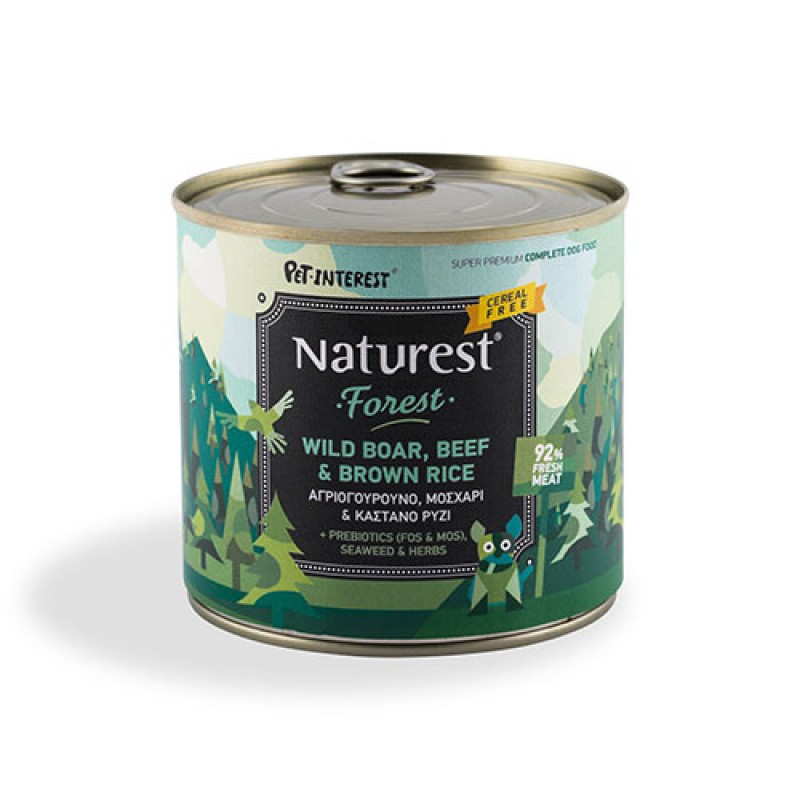 Pet Interest Naturest Beef And Wild Boar With Brown Rice 600gr