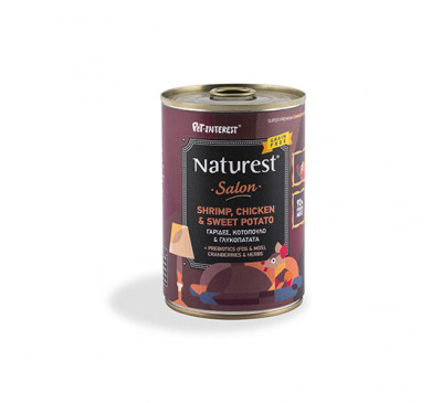 Pet Interest Naturest Chicken And Shrimps With Sweet Potato And Cramberries 400gr