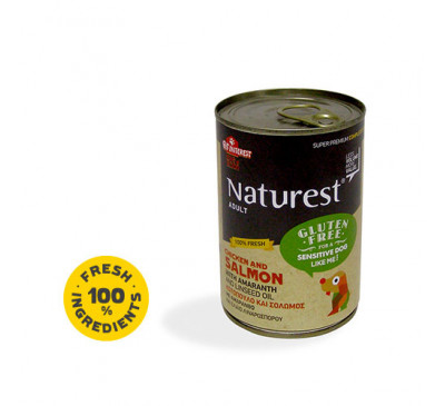 Pet Interest Naturest Gluten Free With Chicken And Salmon 400gr