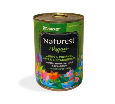 Pet Interest Naturest Vegan With Fresh Vegetables And Fruits 400gr