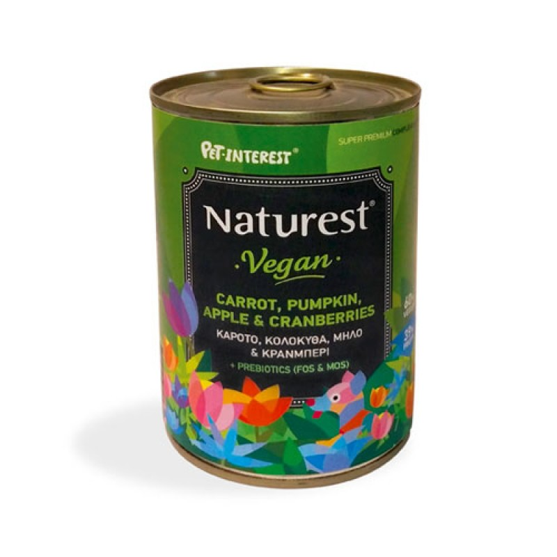Pet Interest Naturest Vegan With Fresh Vegetables And Fruits 400gr
