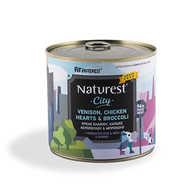 Pet Interest Naturest Venison And Chicken Hearts With Broccoli 600gr
