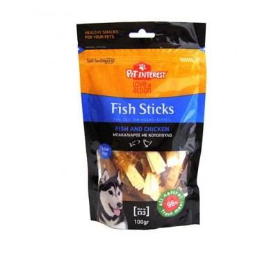 Pet Interest Sticks Ψάρι με Κοτόπουλο Small 100gr