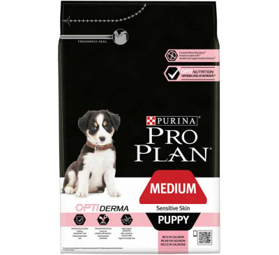Pro Plan Puppy Medium Sensitive Skin Optiderma 3kg