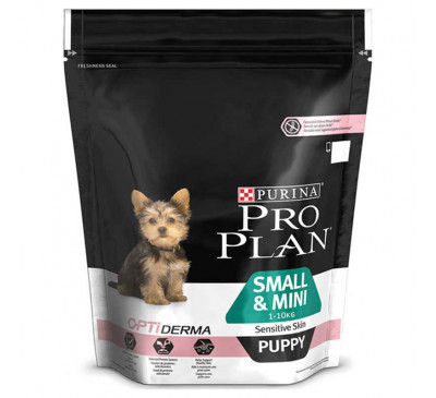 Pro Plan Puppy Small & Mini Sensitive Skin Optiderma 700gr