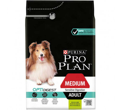 Pro Plan Dog Adult Medium Sensitive Skin Digestion Optidigest 3kg
