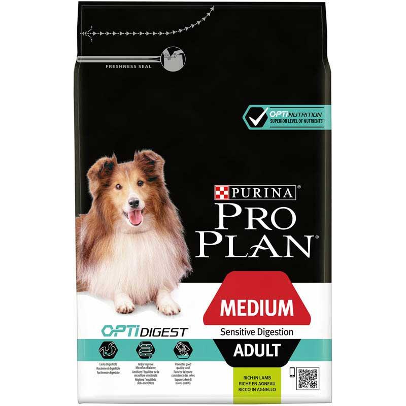 Pro Plan Dog Adult Medium Sensitive Skin Digestion Optidigest 3kg